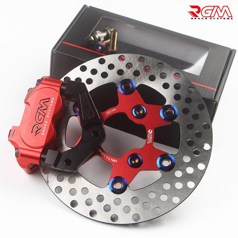 Étrier de frein moto Scooter + support adaptateur de pompe de frein à disque 200mm/220mm + Modification du disque de frein de l'amortisseur avant