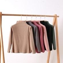 Shirt Girls Winter Pullover Inner-Top Seamless-Cut Bottoming Velvet German Sanding Warm
