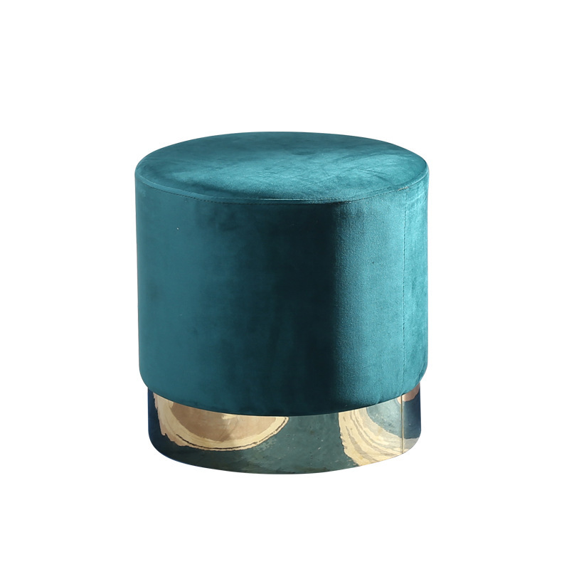 Stainless Steel Shoes Stool Northern Europe Concise Dressing Stool Toggery Shoe Stool Fabric Art Sofa Stool