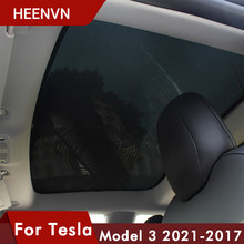 ❤️ Heenvn Model3 osłona przeciwsłoneczna osłona przeciwsłoneczna do samochodu tylna przednia parasol przeciwsłoneczny do modelu Tesla 3 2021 akcesoria świetlik dachowy odcienie Protector