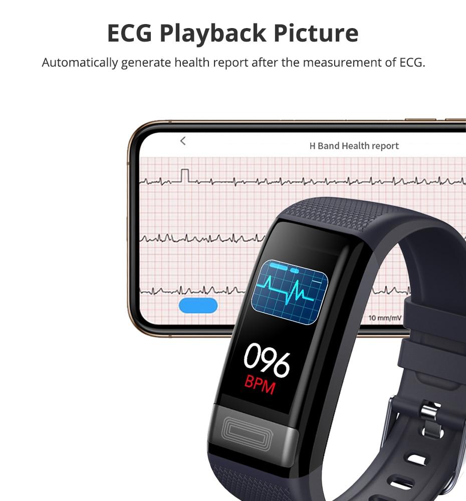 C20s Heart Rate ECG PPG smart watch sport watch Smart Bracelet Fitness Tracker Smart band smart wristband relogio inteligente in Smart Wristbands from Consumer Electronics