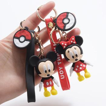 Disney Head Mickey Mouse włochata piłka brelok lalka kaczor Donald wisiorek akcesoria brelok wisiorek do samochodu mały prezent tanie i dobre opinie CN (pochodzenie) Z OCTANU Unisex Zwierząt Opaski na głowę 27 M cartoon
