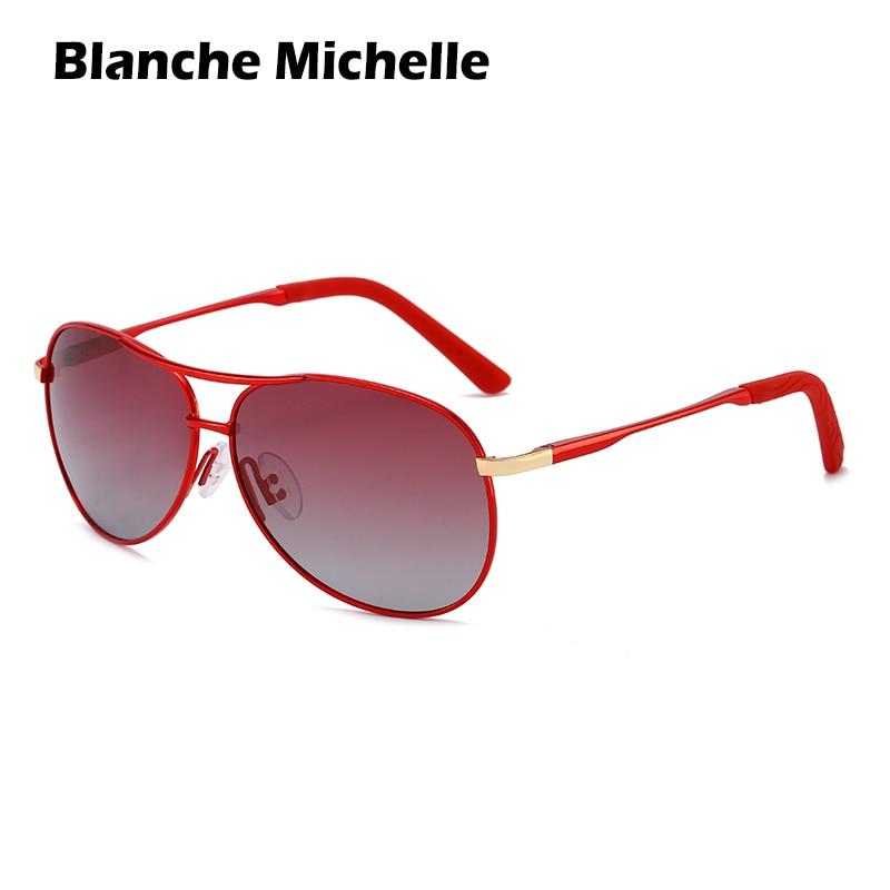 Blanche Michelle Baking Varnish Frame Sunglasses Women Polarized UV400 Protection Pilot Sun Glasses Driving Oculos Feminino 2019