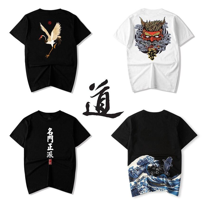 Oriental Asian Chinese Style T-shirt for Adult Men Taoism Sinicism Japanese Samurai Kimono Tees Women Harajuku Summer Outfits