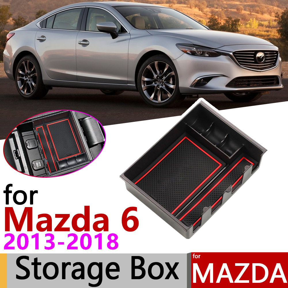 For Mazda 6 GJ GL Atenza Mazda6 MK3 2013~2018 Of Armrest Box Storage Stowing Car Organizer Accessories 2014 2015 2016 2017