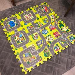 Каждый размер: 30X30 см X 9 см/18 шт. много игровой коврик EVA пены игровой коврик-пазл для детей взаимосвязанных тренировки Плитки пол ковер