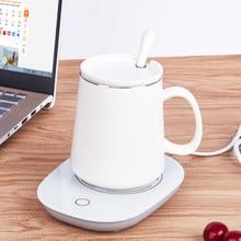 Copo de café mais quente aquecimento esteira almofada aquecedor para chá café leite em casa escritório caneca aquecedor aquecedor aquecedor rápido inverno quente presente de aniversário