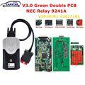 DS150 Multidiag Pro + 9241A чипы, двойная зеленая печатная плата V3.0 NEC Реле 2016.R1, бесплатный генератор ключей OBD2, автомобильный диагностический инструме...