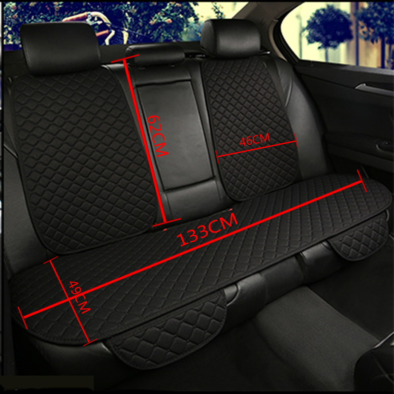 Image 5 - Flax Car Seat Cover Protector Front Rear Seat Back Cushion Pad Mat with Backrest for Auto Automotive interior Truck Suv or Van-in Automobiles Seat Covers from Automobiles & Motorcycles