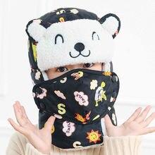 Шапка бомбер с шарфом для мальчиков и девочек хлопковая зимняя