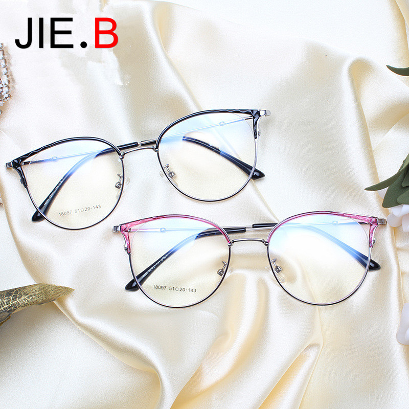 New Metal Large Frame Glasses Ladies Optical Frames Can Be Customized Reading Glasses Progressive Lenses