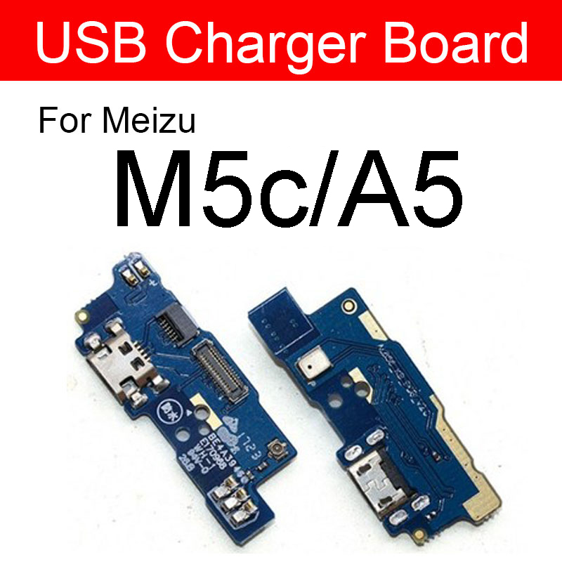 Charger USB Jack Dock Connector Board For Meizu Meilan Blue Charm A5 M710H M5c Charging Port Module Usb Port Board Replacement