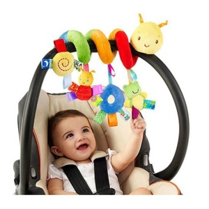 Infant Baby Worm Crib Bed Around Rattle Bell Cartoon Insect Stroller Hanging Stuffed Wrap Spiral Safety Toys For Baby Gift #30(China)