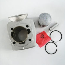 Motorrad Zylinder Kolben Set Kit für PEUGEOT 46MM 12mm pin PGT46 65,3 cc airsal T6 103 104 105 rcx Sp Spx Neue