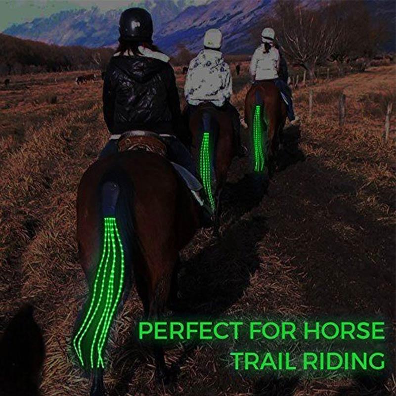 100 cm Long LED Horse Riding Tails Decoration Luminous Tubes Horses Riding Equestrian Saddle Halters Horse Care Products