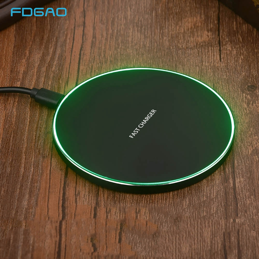 FDGAO 15W Wireless Charger For IPhone X XS XR 8 Plus USB Type C 10W Qi Fast Charging Pad For Samsung S10 S9 S8 Note 10 9 AirPods