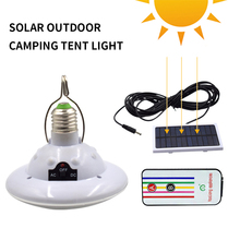 Solar Emergency Lamps 12/22 LEDS With Remote Control Outdoor Camping White Solar Panel Outdoor Solar Camping Lights Rechargeable