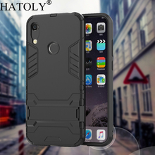 HATOLY Armor Case Huawei Y6 2019 Case Honor 8A Shockproof Robot Silicone Rubber Hard Back Phone Cover For Huawei Y6 2019 6.09