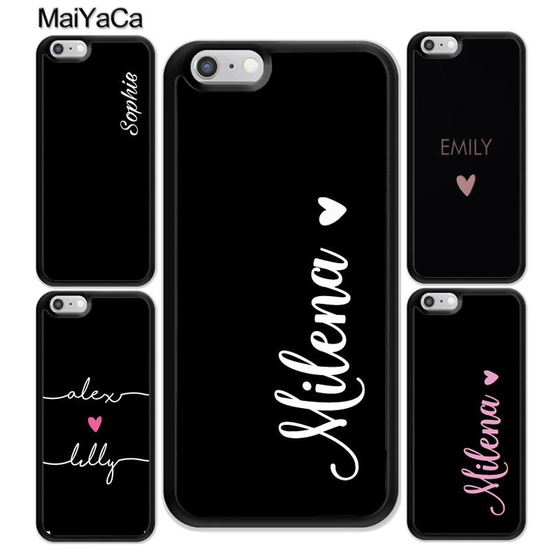 MaiYaCa PERSONALISED NAMES CUSTOM WEDDING Rubber Phone Cases For iphone XR XS MAX 11 Pro X 6 6S 7 8 Plus 5 Back Cover Shell