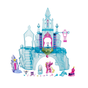 Image 3 - Originele Merk My Little Pony Speelgoed Friendship Is Magic Kasteel Kristal Pak Voor Kleine Baby Kerst Verjaardagscadeau Meisje Bonecas