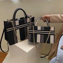 Холщовые дизайнерские сумки для женщин повседневные большие