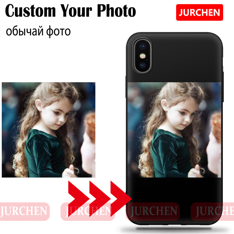 JURCHEN Custom Case For Huawei P10 Plus P20 P30 Pro Lite Honor 6C 4X 8X Max 10 V10 7A 8C Play 8A View 20 Cover Customized Photo