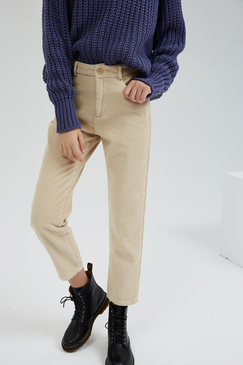 H3988b045f7b34241970e0b36ce542e5fQ - Wixra Women Corduroy Pants Ladies Casual Bottoms Female Trouser Straight Pants Autumn Winter High Waist Trousers