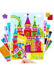 Kids Toys Sticker Puzzle Diy-Crafts Kindergarten-Material Diamond Girls Children