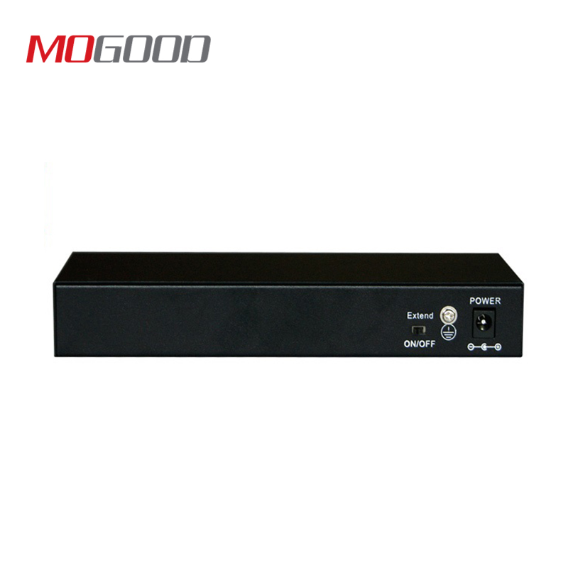 Mogood 9-Port PoE Switch For 8-Channel NVR And CCTV IP / PoE Cameras 250 Meters Transmission Distance Metal Housing
