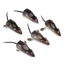 1Pcs mouse Lure 7cm 17.4g Fishing Lures Treble Hooks Top water Ray Frog Artificial Crank Strong Soft Bait QW009