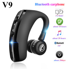 V9 Bluetooth earphone Handsfree business headphones Volume-a