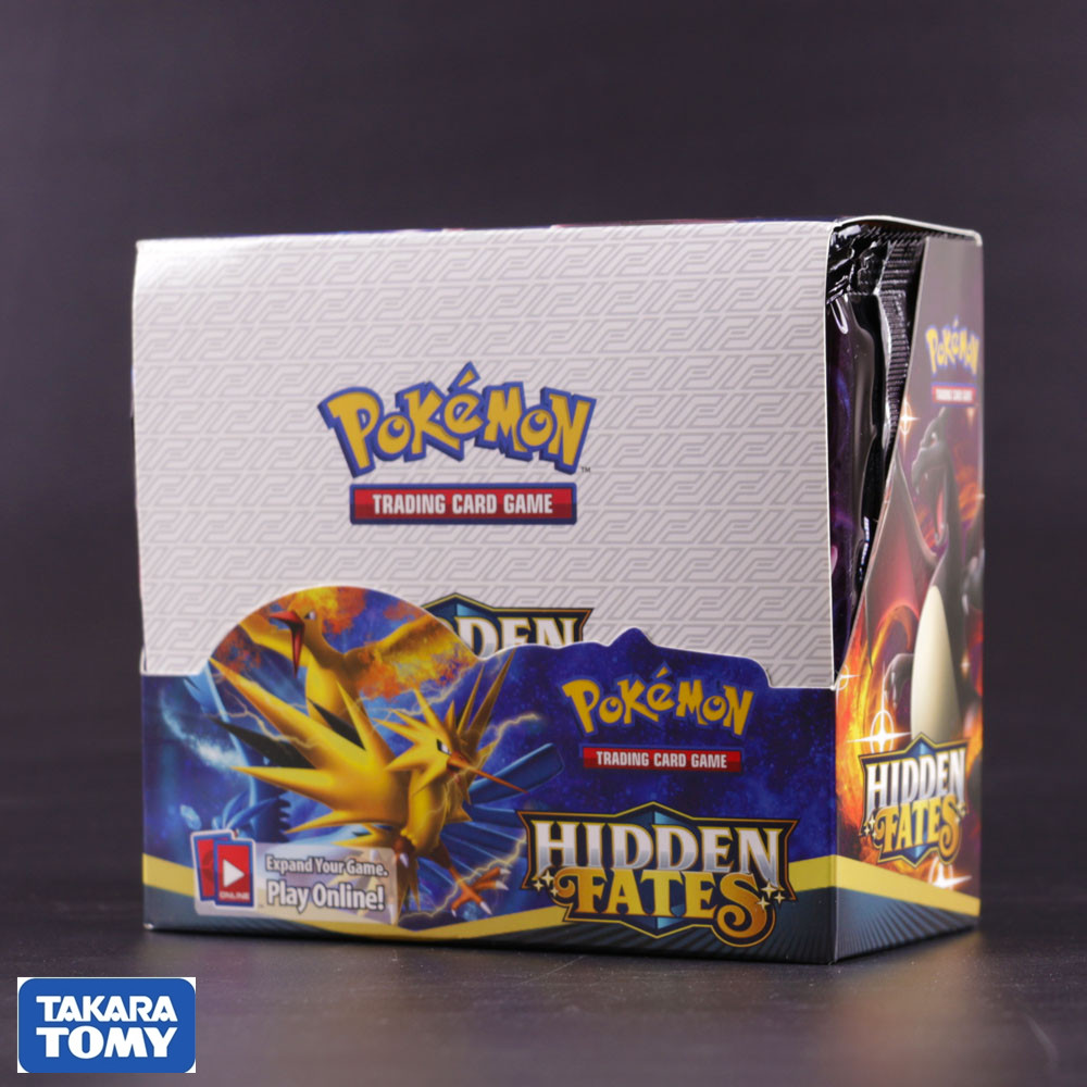 324pcs Pokemon Cards Sun & Moon Hidden Fates Booster Box Collectible Trading Card Game