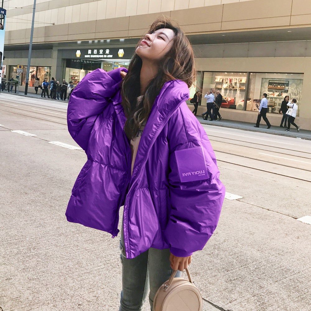 Photo Shoot Fashionable INS Down Coat Cotton-padded Clothes 2019 Winter New Style WOMEN'S Dress Retro CHIC-Style Short Cotton Co