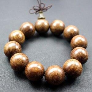 Image 2 - Groothandel Natuurlijke Sandelhout Vintage Mala Kralen Armbanden Boeddhistische Rozenkrans Gebed Yoga Meditatie Lucky Armband Voor Mannen Vrouwen