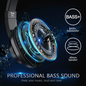Image 2 - Oneodio T3 Verdrahtete Kopfhörer Über Ohr Headset Mit Mikrofon Stereo Bass Kopfhörer Einstellbar Kopfhörer Für Handy