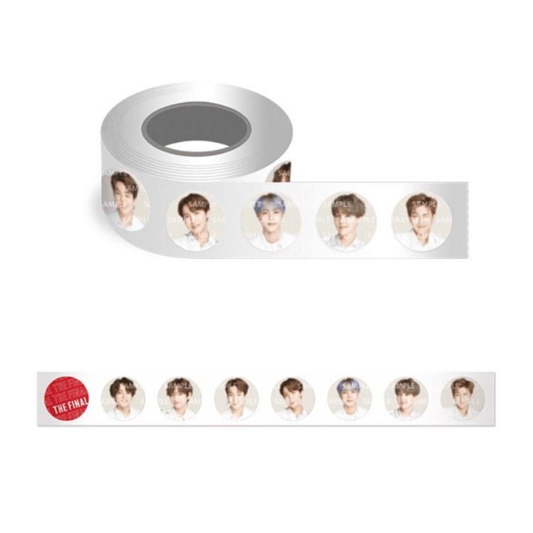 10 Boxes/lot KPOP Tape Toy JIN SUGA JIMIN JHOPE RM V JUNGKOOK THE FINAL Figure Tape Paper Hand Account Sticker Toy Gift