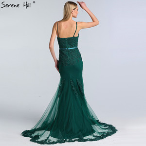 Image 4 - Serene Hill Green Sexy Sweetheart Lace Crystal Evening Dress 2020 Dubai Luxury Mermaid Formal Party Gown Real Photo CLA60712