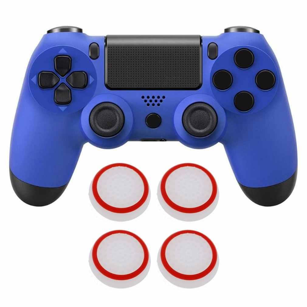4 sztuk kciuk kij antypoślizgowa nakładka na PS4 Pro Slim silikonowa analogowa gałka uchwyty pokrywa dla Xbox PS3 PS4 akcesoria