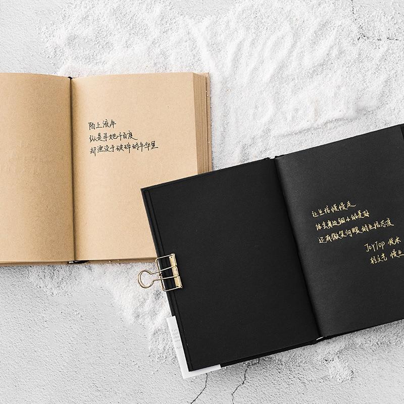 Image 5 - A5 Todo o Papel Preto Em Branco Página Interna do Pequeno Portátil de Bolso Notebook Sketchbook Papelaria Bloco de Notas de Capa Dura Presente A5 TAMANHOCadernos   -