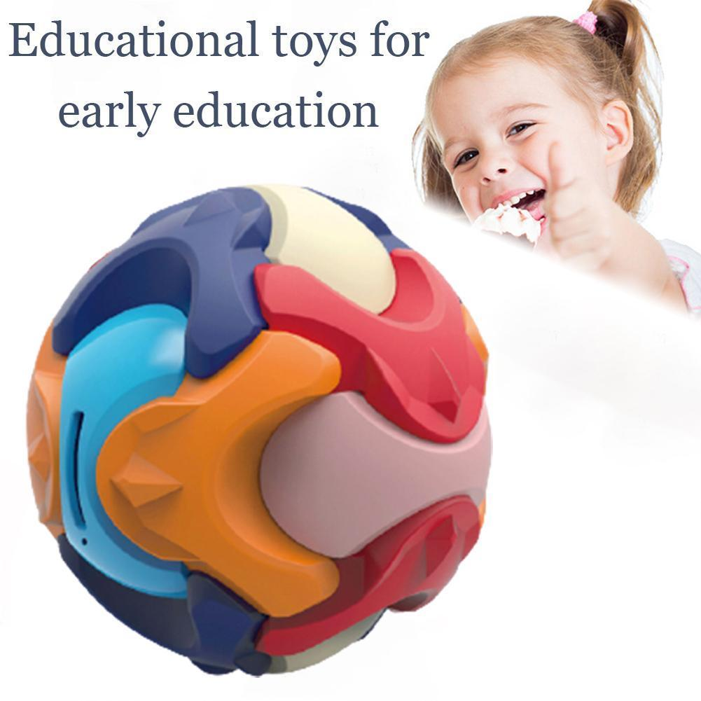Creative Ball Assembled Toy Piggy Bank Detachable Ball Building Early Toys Block Education Educational For Children L5O1