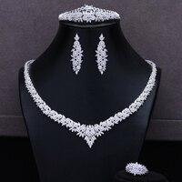GODKI 2020 New Famous Brand Trendy Bridal Wedding Jewelry set Necklace Earring Bracelet Bangle Ring Set Jewelry High Quality