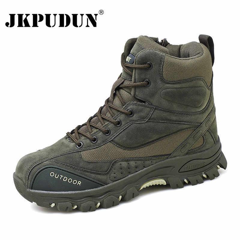 Tactische Militaire Combat Laarzen Mannen Lederen ONS Leger Jacht Trekking Camping Bergbeklimmen Winter Werkschoenen Bot JKPUDUN