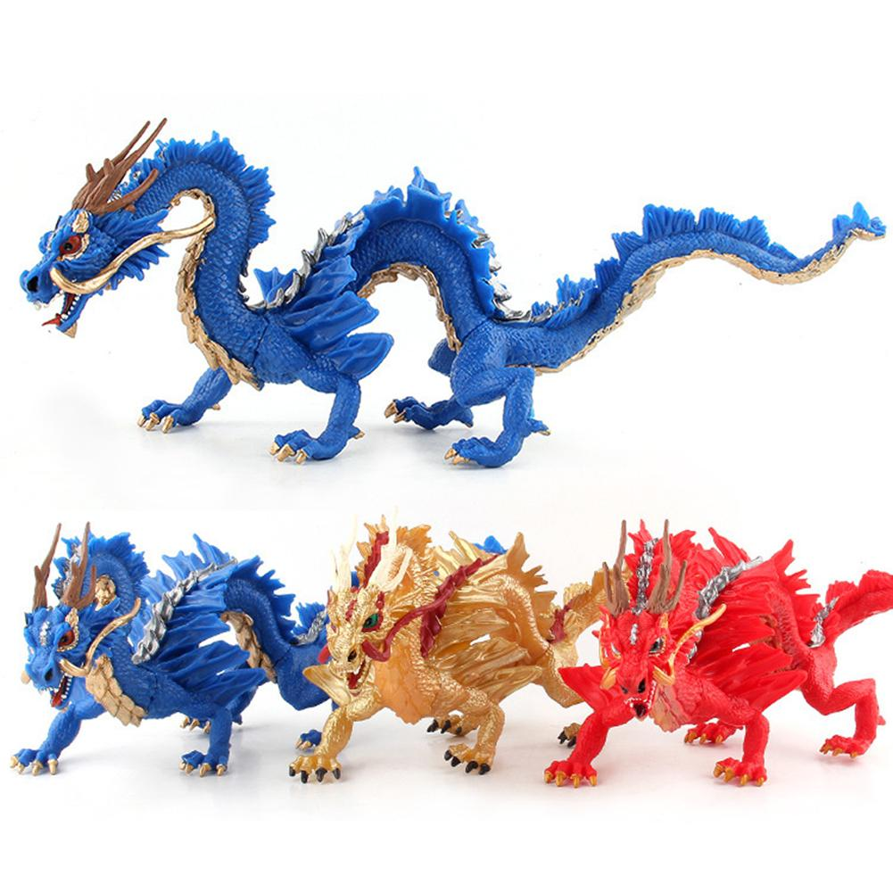 Simulation Chinese Dragon Figures PVC Lifelike Figurines Educational Toy Birthday Gift Collection For Ages 3 And Up Kids