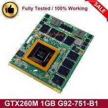 GTX 260M GTX260M 1GB DDR3 WDXVH G92-751-B1 P/N: 0WDXVH 96RJ4 VGA Video Karte für Dell Alienware M15X M17X R1 Laptop Motherboard