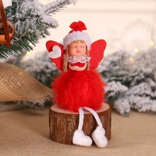 Wooden Desktop Christmas Angel Doll Shape Home Decoration Ornaments Novelty Decor