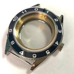 Corgeut Брендовые Часы части 41 мм корпус часов синий керамический ободок подходит Miyota 8205/8215, ETA 2836 DG 2813 наручные часы