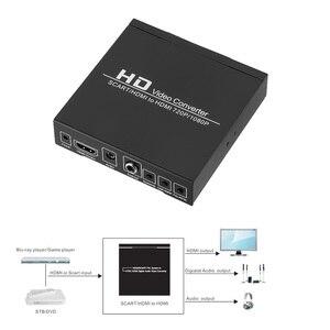 Image 4 - Convertidor de vídeo de alta definición Full HD 1080P euroconector Digital HDMI a HDMI, adaptador de enchufe europeo/de potencia para EE. UU. Para HDTV HD