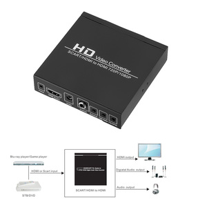 Image 4 - Hot Full HD 1080P Digital SCART HDMI To HDMI Converter High Definition Video Konverter EU/US Power Plug Adapter For HDTV HD