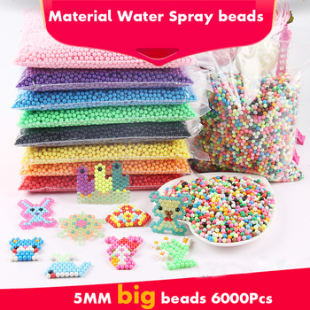 6000pcs Beads Water Spray Beads DIY Puzzles Toy Water Magic Beads Ball Games Aqua Handmade Magic Mixed Color Toys for Children