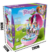New Heartlake MUSIC BOX Princess Fit Legoings Friends Figures City Girls Gift Castle Building Block Bricks Toys Kid Christmas(China)